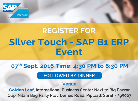 Silver Touch ‐ SAP Business One ERP Event at Surat