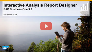 Interactive Analysis Report Designer